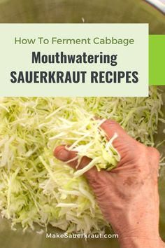 """Gain the confidence to ferment sauerkraut with flavorful, step-by-step recipes that you want to make again and again. For first timers, you'll want to start with the blog post """"How do you make sauerkraut in a jar [THE COMPLETE GUIDE]"""", wherein I """"hold your hand"""" through the process. Learn how to make mouthwatering homemade sauerkraut for gut health."""