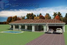 Round House Plans, Tuscan House Plans, House Plans With Photos, Simple House Plans, Beautiful House Plans, Garage House Plans, Dream House Plans, Double Storey House Plans, One Storey House