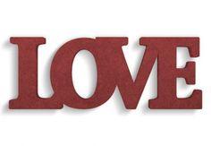 lettere in legno mdf : Lettere decorative - Lettere in legno MDF Love 2