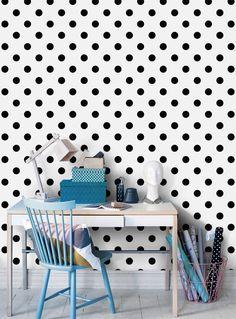 Black dot Wallpaper from Happywall.com