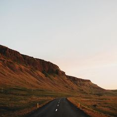 The western road #iceland #sunset by frostyphoto