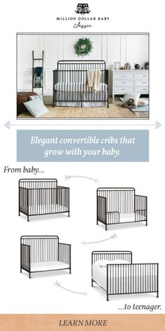 Designed to be with your family for years to come, Million Dollar Baby Classic pieces convert and transition in to new spaces as your baby grows from stage to stage. We know that raising your child is…More Nursery Crib, Baby Planning, Up House, Convertible Crib, Nursery Inspiration, Nursery Ideas, Nursery Decor, Baby Time, Baby Grows