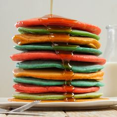 Regular pancakes are cool and all, but Kool-Aid Pancakes?! You can make pancakes in practically every color of the rainbow!Get your kids involved once you've made up some pancake batter - all you need to do is add in Kool-Aid packets in the color(s) of your