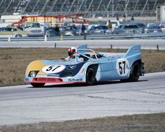 Swiss driver Paul Blancpain in the Joest Racing Porsche 908/03 during Friday's practice, 1973 24 Hours of Daytona.
