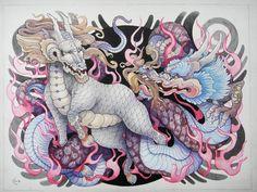 kirin tattoo | Kirin and Dragon by Xenija88
