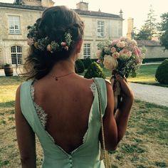 Robe mint dos nu dentelle Anaïs Tanguidé-Sablon - robe demoiselle d'honneur-  mint bridesmaid dress