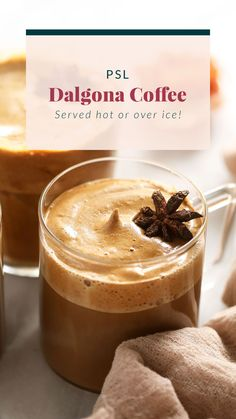 Enjoy a mug hot pumpkin spice dalgona coffee! It's easy to make and delicious! Healthy Dessert Recipes, Smoothie Recipes, Desserts, Healthy Cocktails, Ice Milk, Dried Strawberries, Coffee Tasting, Drinks Alcohol Recipes, Chocolate Chip Oatmeal
