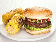 Burgers with Green Tomato Salsa Recipe : Food Network Kitchen : Food Network - FoodNetwork.com