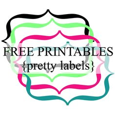 Pretty Label Borders {Free Printables}