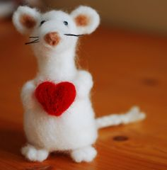 Adorably cute Valentine mouse!
