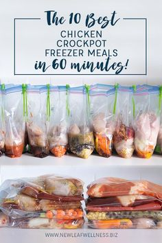 Kelly from New Leaf Wellness put together a list of 10 Best Chicken Crockpot Freezer Meals you can make in 60 minutes. Her free download includes 10 printable recipes and a printable shopping list. Psst! Looking for even more freezer cooking meals? …