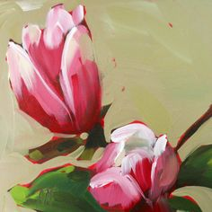 magnolia blossoms openedition print by angela von prattcreekart, $10.00