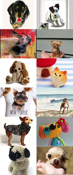 dogs by Marina on Etsy--Pinned with TreasuryPin.com