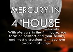 Mercury in the 4th house