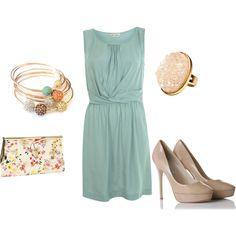 summer wedding outfit - same dress, different idea