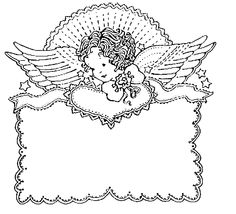Coloring Pages Angels Christmas Candle Light from our