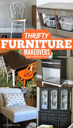 Thrifty Furniture Makeovers for the Home   OHMY-CREATIVE.COM