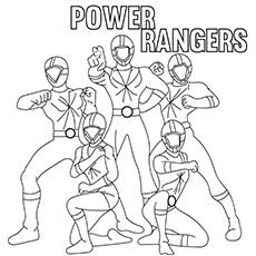 Printable Power Rangers Samurai Picture To Color | Superheroes ...