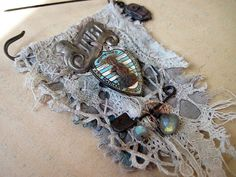 Free will. textile and antique trinkets rustic gypsy via fancifuldevices