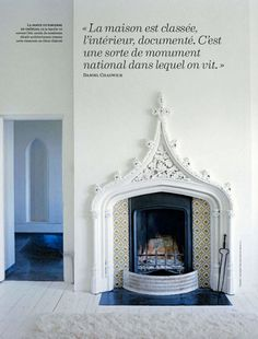 moroccan style fireplace