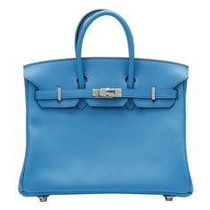 Hermes Blue Zanzibar Swift Leather Birkin 25cm abd6d0661a822