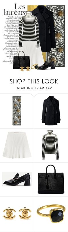 """Untitled #368"" by riuk ❤ liked on Polyvore featuring Lands' End, Etro, MSGM, WithChic, Yves Saint Laurent and Chanel"