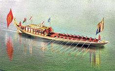 Gloriana -- a specially built barge that will lead the Thames River Pageant.