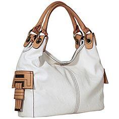 Jessica Simpson  Rebecca Shopper - Vanilla / Sand - via eBags.com! I want this purse but different color !!!!