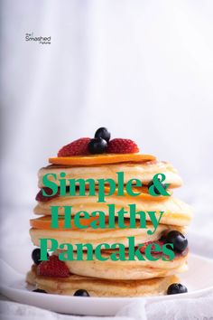 This healthy and easy pancakes recipe is super fast to prepare and you can cook it with so little ingredients that everyone has in their pantry. Pancakes Easy, Pantry, Vegetarian Recipes, Potatoes, Cooking, Simple, Healthy, Desserts, Food