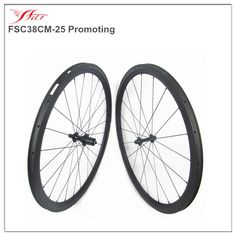 Stock item hot sale carbon 38mm clincher wheels for road bike 25mm wide racing rims UD matte 20H/24H with black sapim spokes #Affiliate