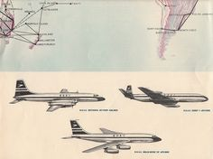 BOAC brochure from c1960, aircraft images page - by Proplinerman