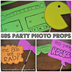 80s party photo props ... {create this} at shaken together
