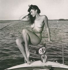 """In 1955, Betty Page won the title """"Miss Pinup Girl of the World."""" She was known as """"The Queen of Curves"""" and """"The Dark Angel."""""""