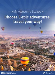 I've entered to win my 3 epic adventures for my Awesome Escape! Choose your adventure with Hostelworld and win a dream trip. #EscapeNow