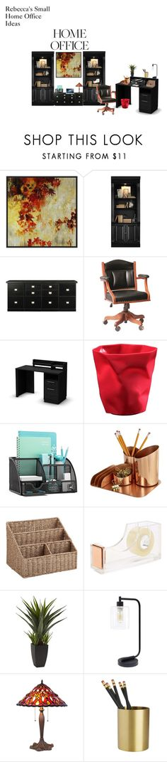 """Rebecca's Small Home Offices Ideas"" by rebeccadavisblogger on Polyvore featuring interior, interiors, interior design, home, home decor, interior decorating, PTM Images, Hooker Furniture, Ballard Designs and DutchCrafters"