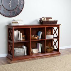 The Hampton Console Table Stackable Bookcase - Cherry