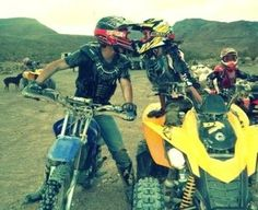 this is cute #dirtbike #quad #kiss (be better with another dirt bike instead of the quad.)^^^^ ! I agree