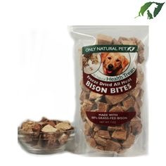 Only Natural Pet All Meat Bites Freeze-Dried Bison Formula Raw Pet Treats | Pet Food Direct