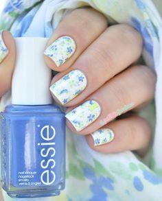 essie summer collection 2015 flower print nail art