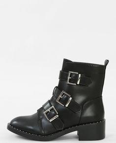 bottines noires lacets et boucke enjoyphoenix