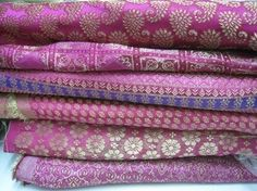 Magenta saris