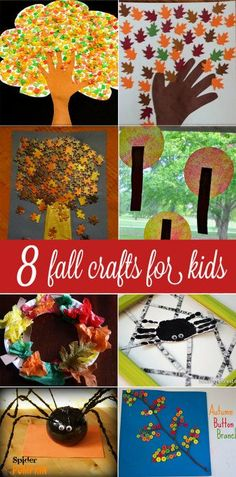 Fall crafts for kids to make can be absolutely stunning! These are 8 crafts for kids that have come other moms. They're gorgeous and perfect for fall.