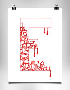 """Check out this recent #typography #poster titled """"E"""" from Kasia Lilja on PosterVine.com.  Via: http://www.postervine.com/e-typography-poster/  Come submit yours today!"""