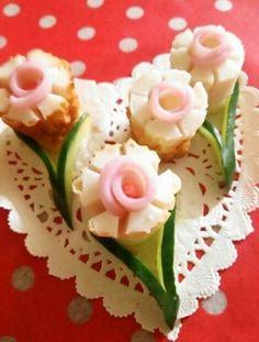 竹輪と かまぼこお花 飾り切り Chikuwa & Kamoboko Flower