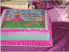 Pinkalicious image edible cake topper