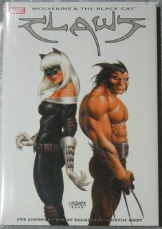 Wolverine and Black Cat in a graphic novel by Dawn artist Joe Linsner. $19.99 on ebay.