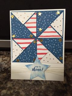 July 2016 What a Gem Military Cards, 4th Of July Fireworks, July 4th, Sewing Cards, Mom Cards, Card Patterns, Paper Pumpkin, Halloween Cards, Greeting Cards Handmade