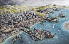 KAUPANG was an important merchant and craft center,  in the 8th and 9th centuries, and as yet the first known Norwegian trading outpost. https://en.wikipedia.org/wiki/Kaupang https://en.wikipedia.org/wiki/Skiringssal http://historievg3p.cappelendamm.no/c357368/sammendrag/vis.html?tid=370049