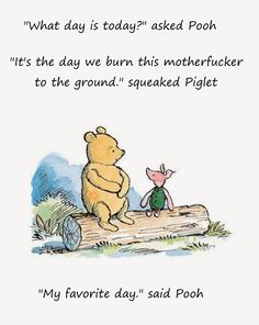 Piglet is wise.