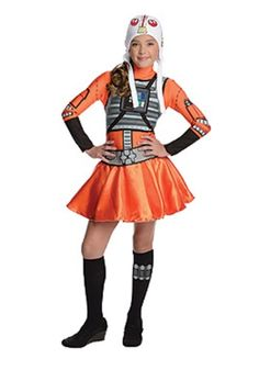 Star Wars X Wing Fighter Tween Costume - What did you do on Halloween? You can say you flew a starfighter when you wear this officially licensed Star Wars X Wing Fighter Tween Costume. Tween Halloween Costumes, Halloween Dress, Toddler Halloween, Halloween 2016, Modest Costumes, Girl Costumes, Dresses For Tweens, Girls Dresses, Dress Up Outfits